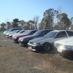 Hilarious: AE86 surrounded by R30s
