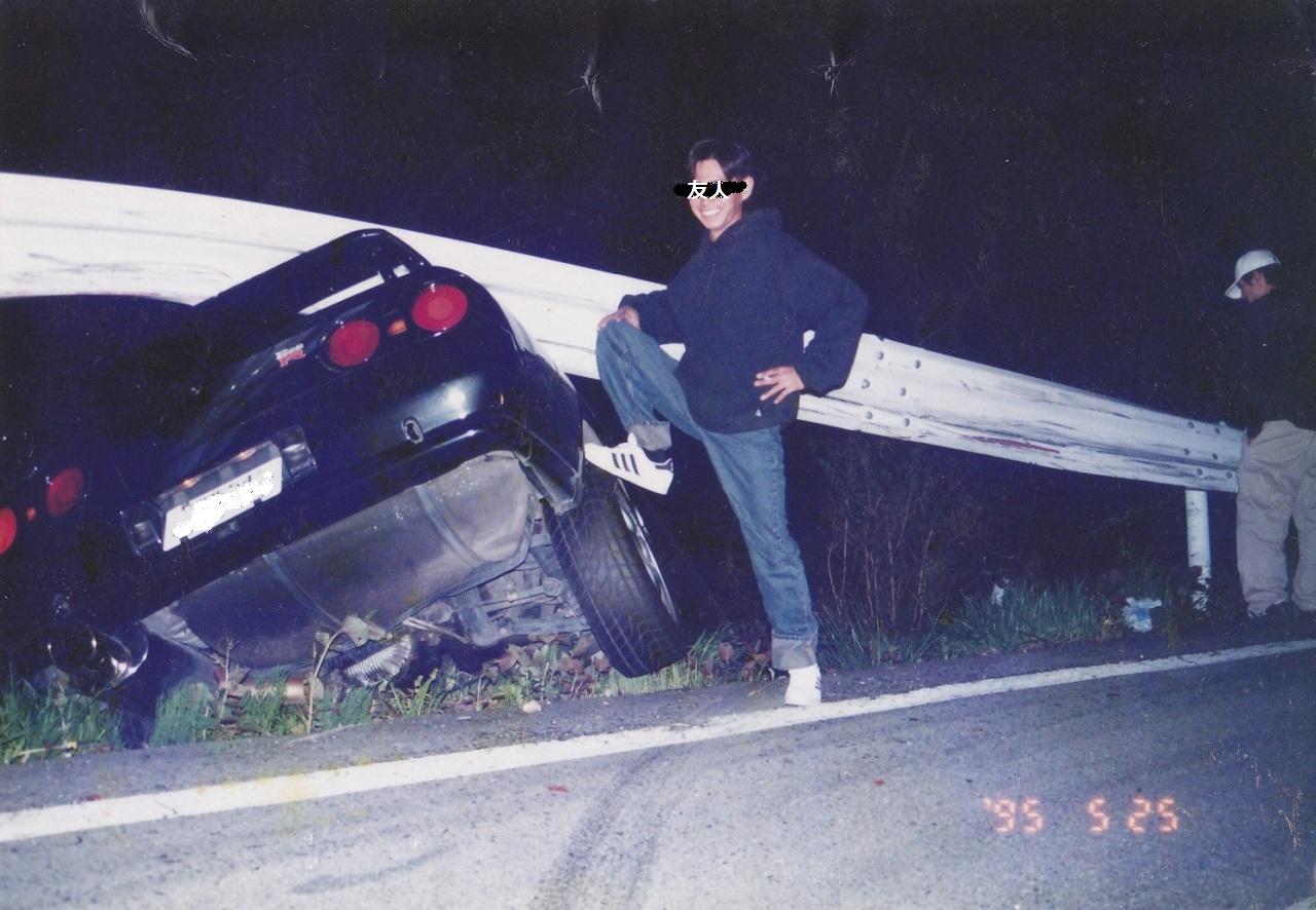 Wrecked Nissan Skyline HCR32