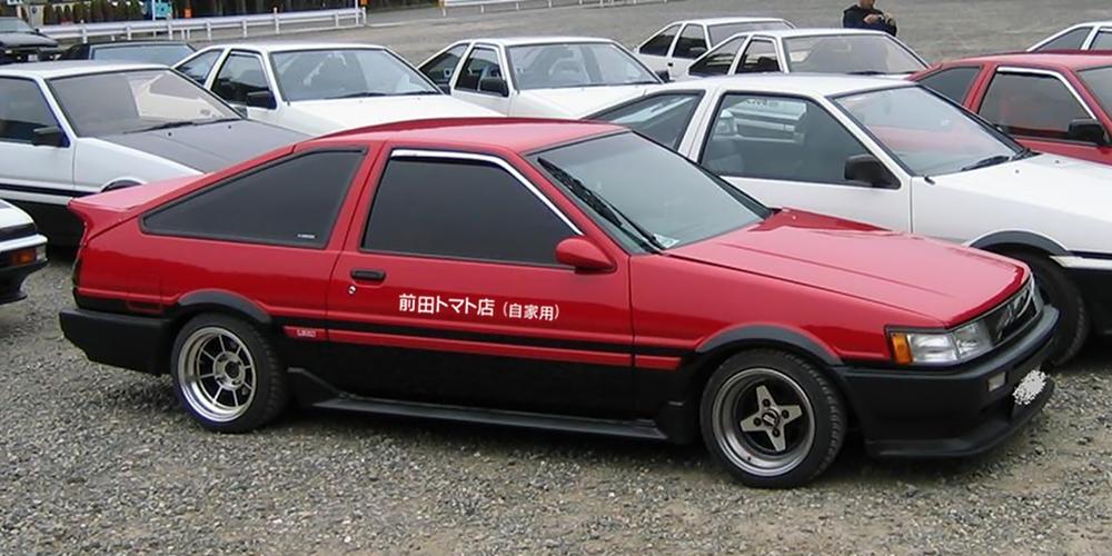 Panda red AE86 Maeda Tomato Shop