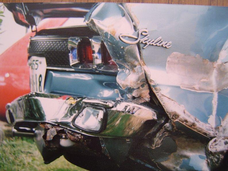 Wrecked Nissan Skyline KPC10