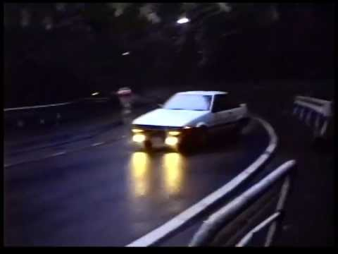 Touge drifting Hakone pass in 1990