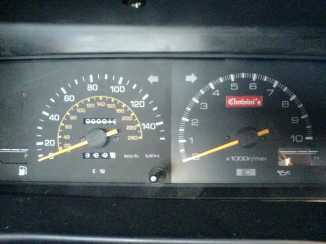 AE86 Trivia Chowini's 10k tachometer