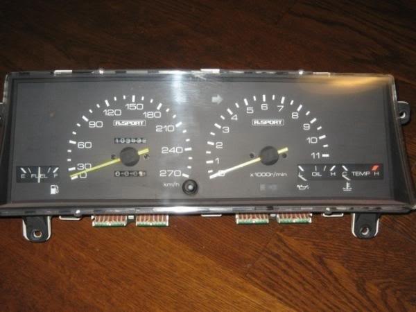 AE86 Trivia Alsport 11k gauge cluster