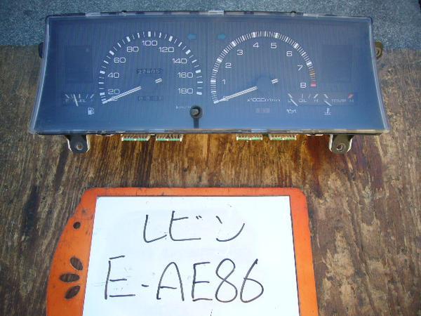 AE86 Trivia: Toyota Levin AE86 gauge cluster