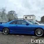 Down on the Street: blue Nissan Skyline R33 GTST