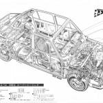 Picture of the week: cutaway Subaru FF-1 1300G Super Touring