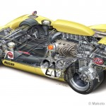 Picture of the week: Nissan R382 cutaway drawing