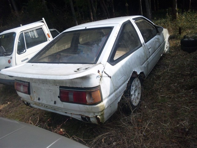 Japanese Rustoseums - Overgrown Toyota Corolla Levin AE86