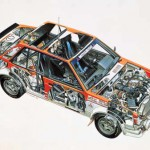 Picture of the week: Mitsubishi Lancer Turbo cutaway drawing