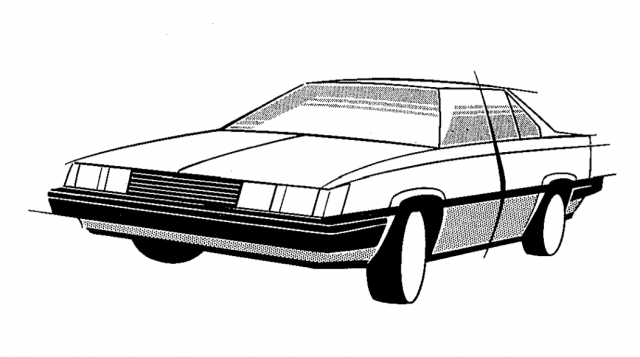 Toyota Carina A60 design sketch