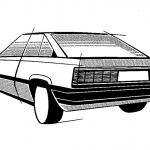 Picture of the Week: Toyota Carina A60 initial design sketch