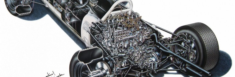 Picture of the week: Honda RA272 cutaway drawing