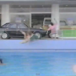 Friday Video: hilarious Nissan Skyline C110 pool dive