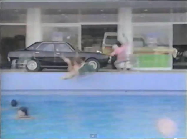 Nissan Skyline C110 pool dive
