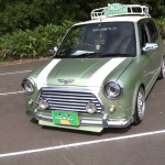 WTF: Mini emerging from a Daihatsu Mira Gino