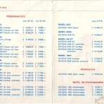 Brochures: Datsun pricelist from 1973