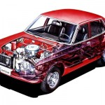 Picture of the Week: Datsun 180B sedan cutaway drawing