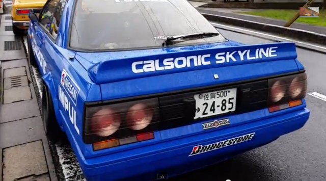 WTF Exhaust through NIssan Skyline R31