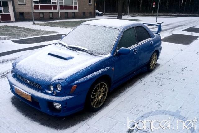 Down on the Street: Snowy Subaru Impreza WRX