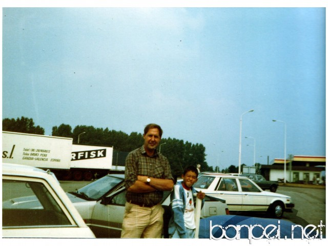 Family Album Treasures: my father with a Mitsubishi Cordia