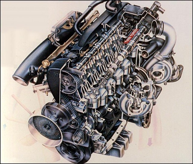 Picture of the Week: Nissan RB26DETT cutaway drawing