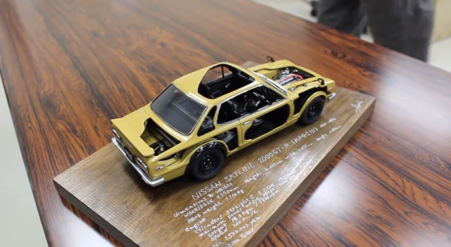 Nissan Skyline GT-R KPGC10 cutaway model