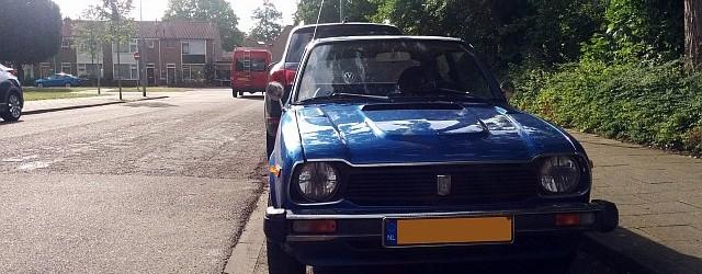 Down on the Street: Blue 1979 Honda Civic Mk1