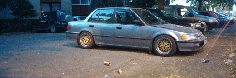 Down on the Street: illest Hungarian Honda Civic EF progress