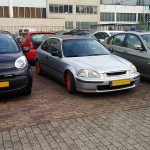 Down on the Street: Honda Civic EK with red rims