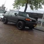 Down on the Street: wrapped Toyota FJ Cruiser