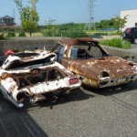 Rusty pair of Mazda Cosmo 110S [Japanese Rustoseums]