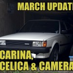 Toyota Carina, Celica & Camera [March update video]