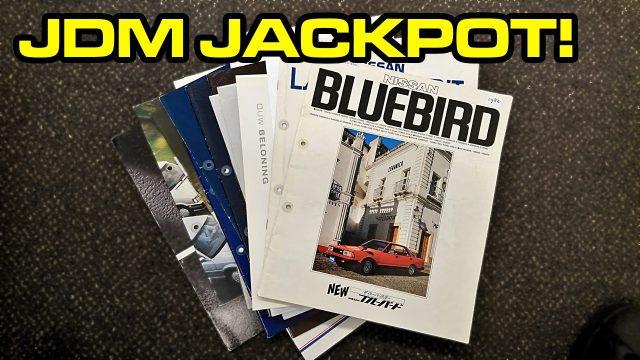 JDM Jackpot: Nissan Bluebird 910 brochure!