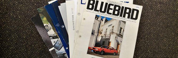 JDM Treasure: Nissan Bluebird 910 and Laurel Spirit brochures