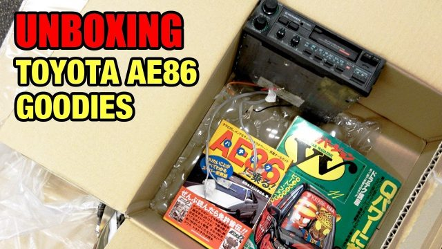 Unboxing Toyota AE86 goodies