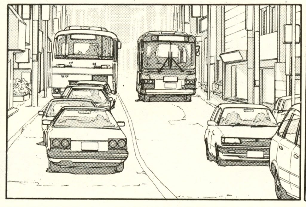 Manga Car Spotting - The Walking Man part one