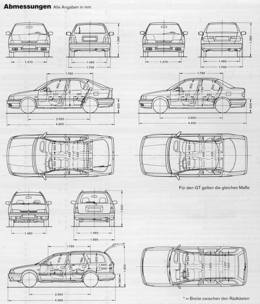 Nissan Primera P10 UK-spec blueprint
