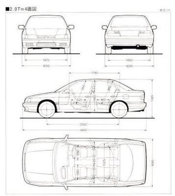 Nissan Primera P10 JDM-spec blueprint