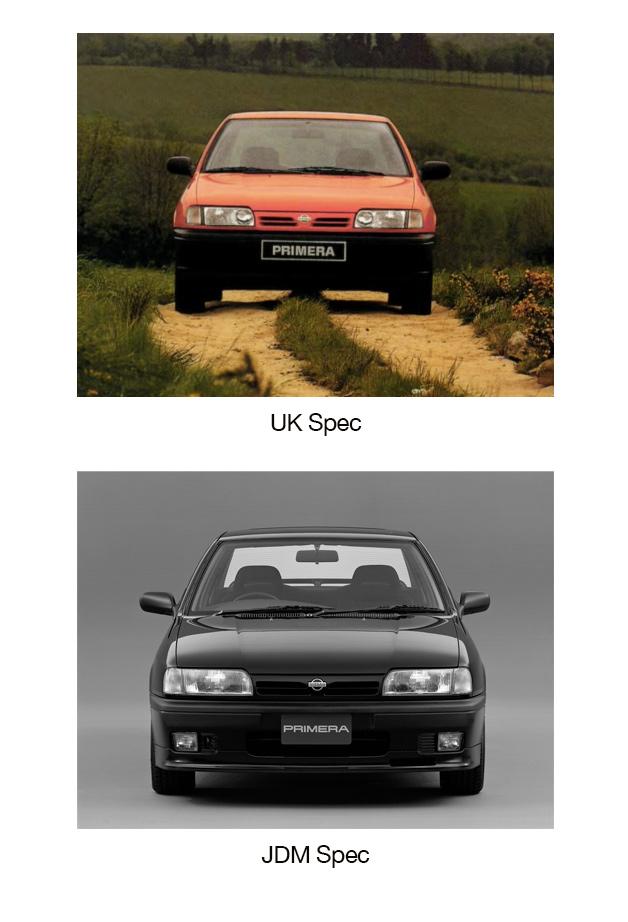 Nissan Primera P10 UK-spec versus JDM-spec