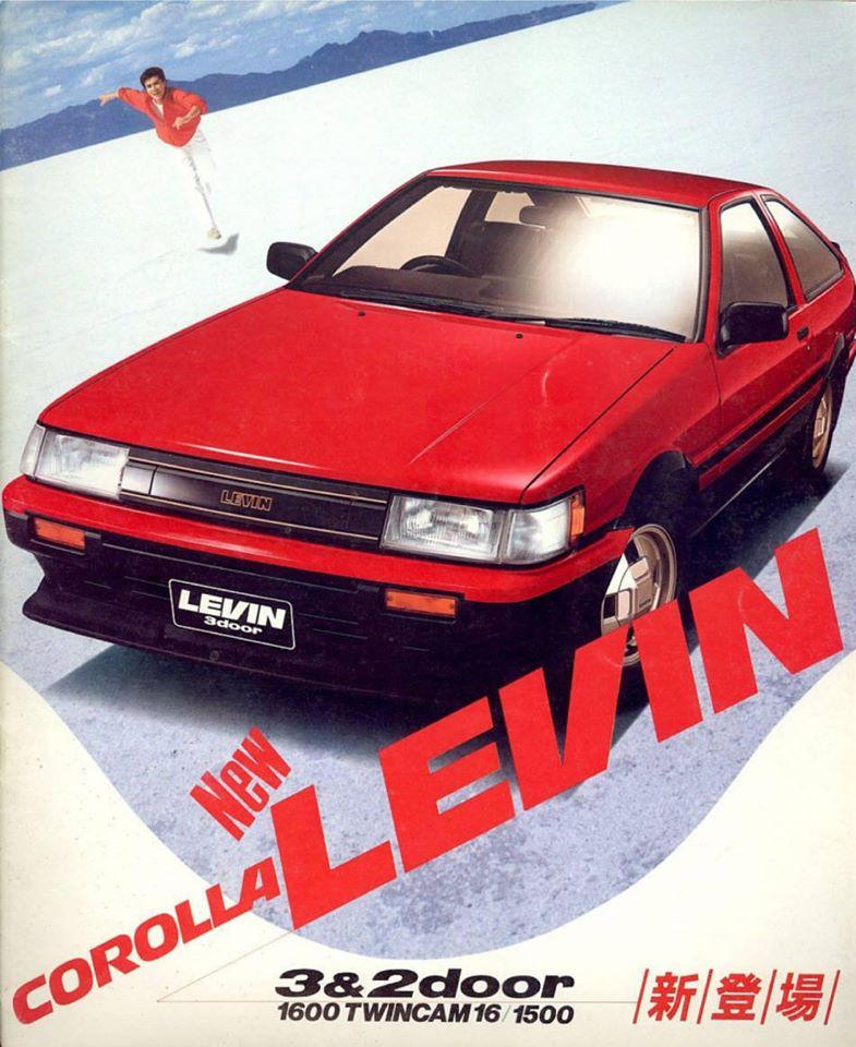 Toyota Corolla Levin AE86 brochure
