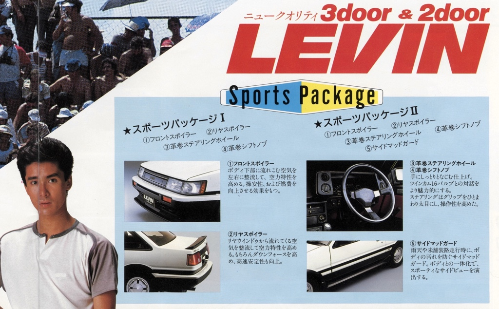 The revised version of the pre-facelift  / zenki AE86 sports package
