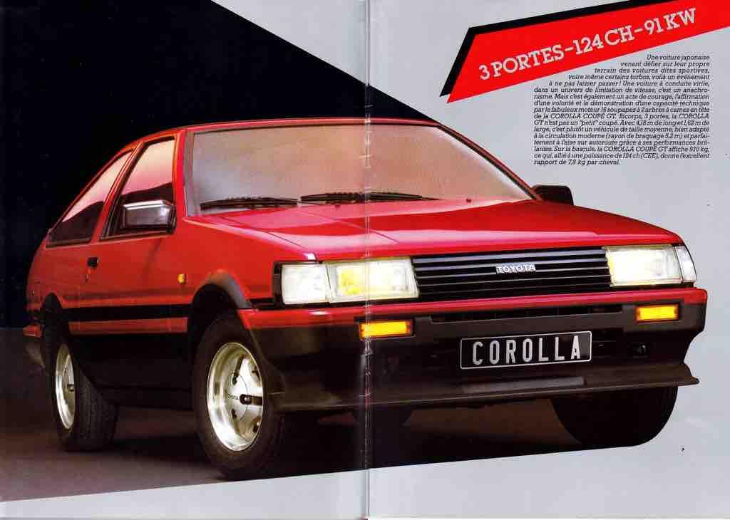 The European pre-facelift / zenki Toyota Corolla AE86 didn't get any side skirts