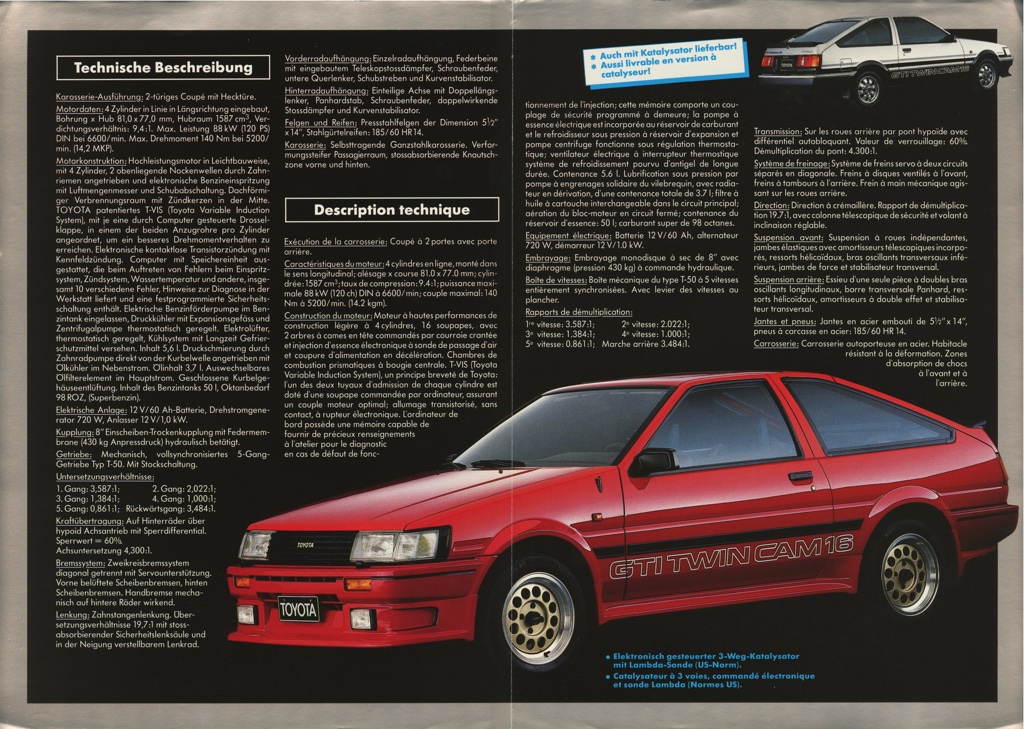 The Swiss pre-facelift Toyota Corolla GTi AE86 got spoilers and a Haslbeck trim