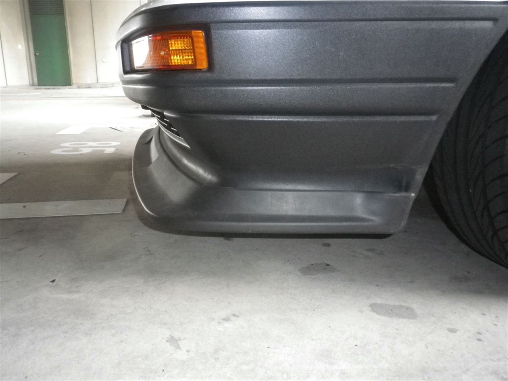 Zenki AE86 front spoiler on a kouki AE86 front bumper? Hell yeah!